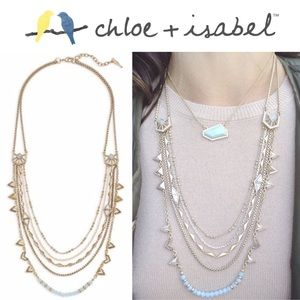 🆕 Portico Multi Row Necklace c+i N387